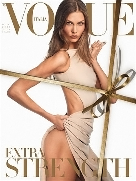 Karlie Kloss Vogue Italy December 2011 cover