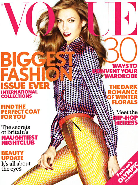 Karlie Kloss Vogue UK September 2012 cover