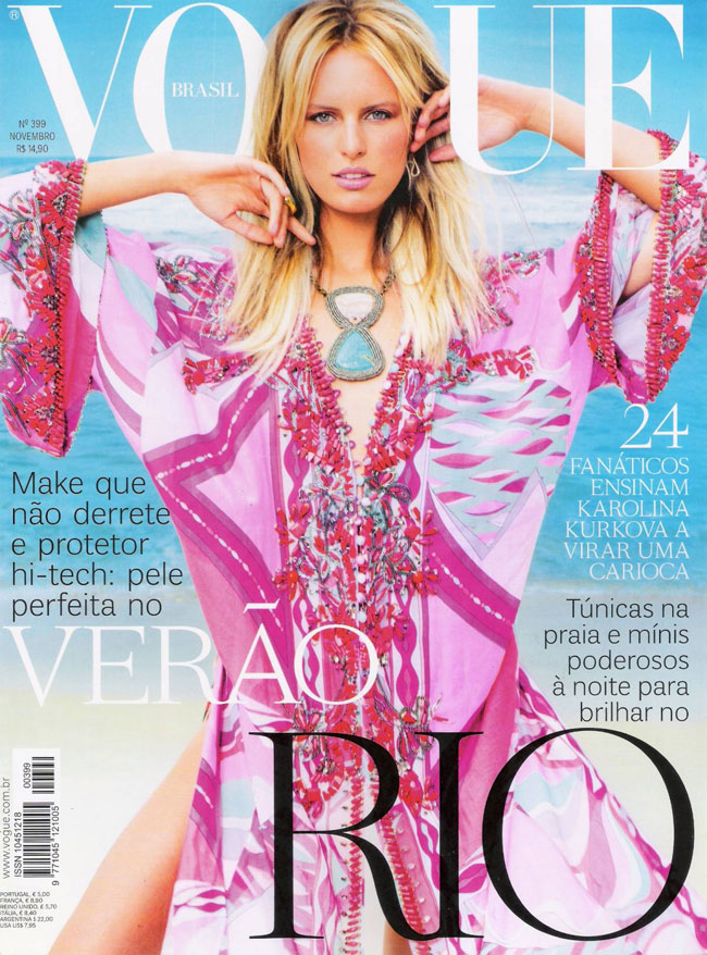 Karolina Kurkova Vogue Brasil November 2011 cover