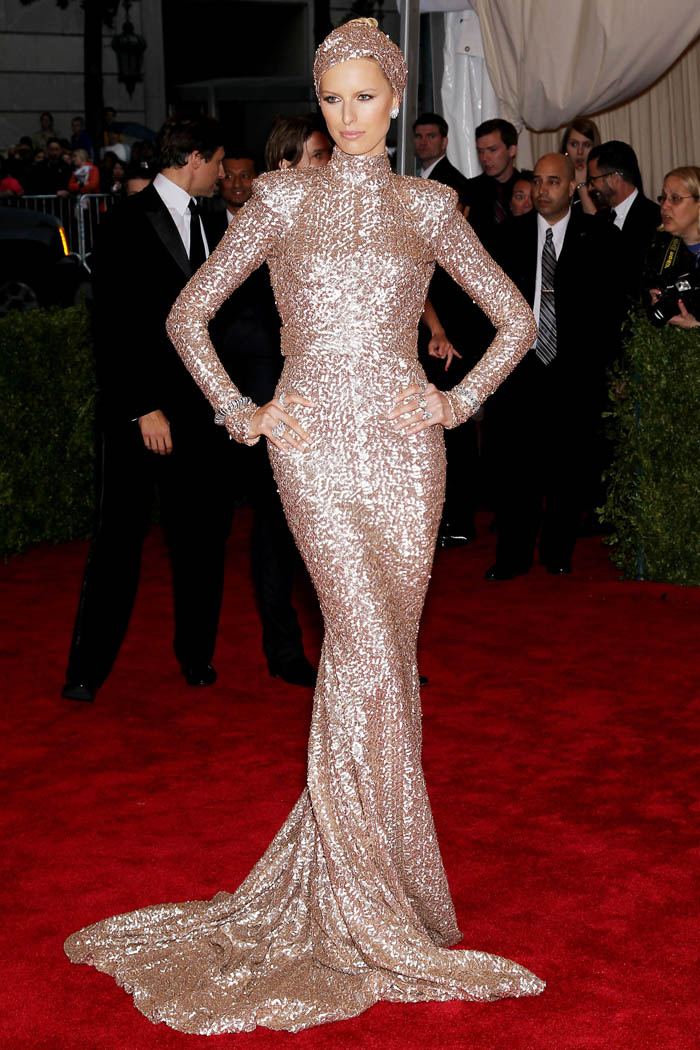 Karolina Kurkova s dress at Met Gala 2012 Rachel Zoe