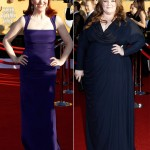 Kate Flannery Melissa McCarthy blue dresses 2012 SAG Awards