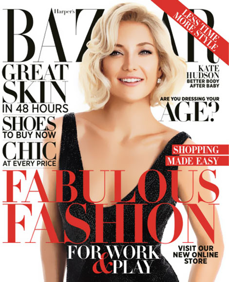 Kate Hudson Returns: Harper's Bazaar October 2012