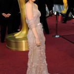 Kate Mara Jack Guisso 2012 Oscars pale dress