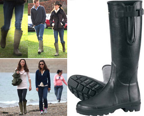 Kate Middleton Duchess Catherine wears Le Chameau Vierzon wellies