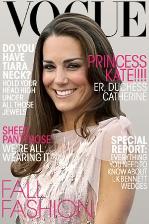 Kate Middleton Duchess of Cambridge Vogue cover spoof