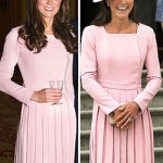 Kate Middleton wears the same pink dress twice