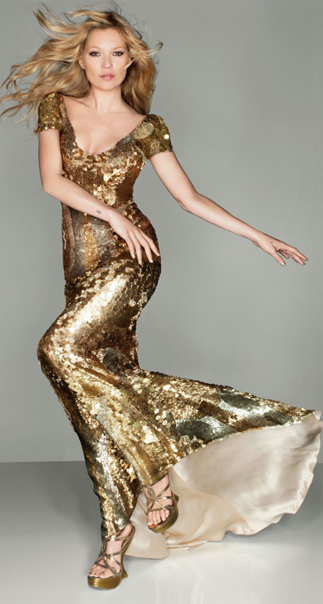 Kate Moss Alexander McQueen dress from Vogue to Closing Ceremony Olympics