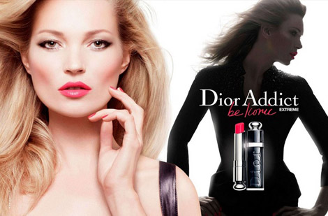 Kate Moss Dior Addict Extreme be iconic 2012 ad Campaign
