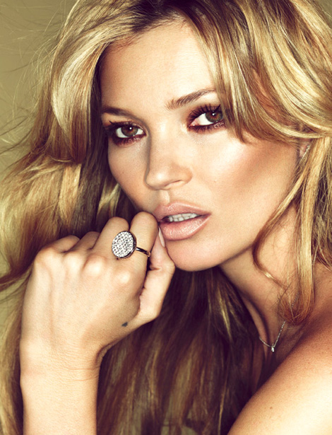 Kate Moss Models For Her Fred Jewelry Collection
