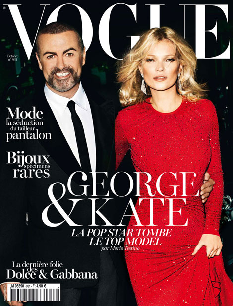 Kate Moss George Michael Vogue Paris October 2012 cover