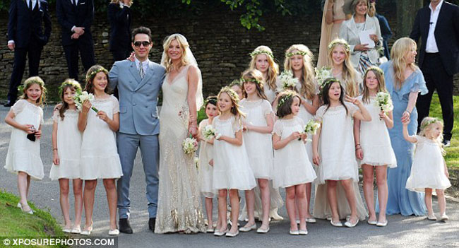Kate Moss, The Bride, Wearing John Galliano Wedding Dress