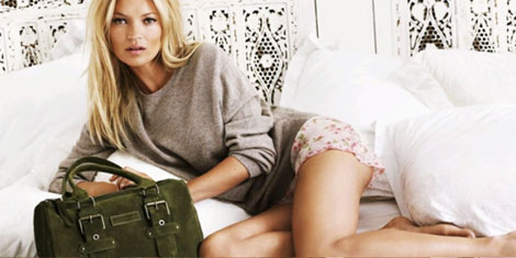 Kate Moss Longchamp bags fall 2011 ad campaign
