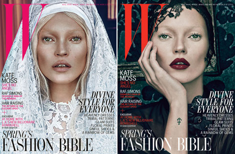 Kate Moss Good Vs Bad W Magazine March 2012 Covers
