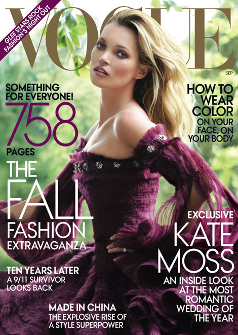 Kate Moss Vogue September 2011 cover