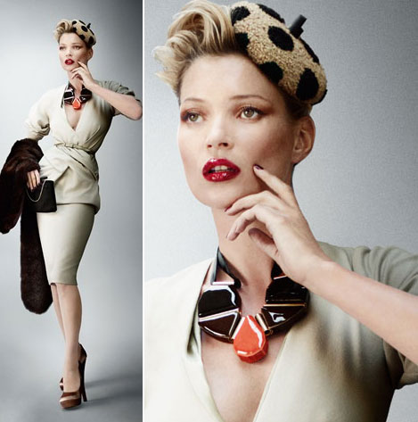 Kate Moss Vogue UK August 2011 by Mario Testino