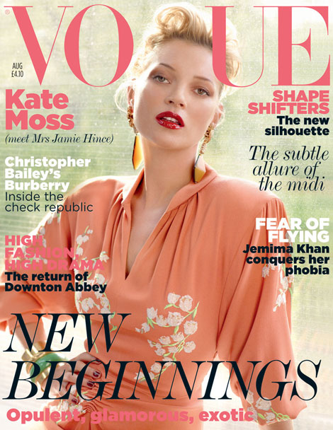 Kate Moss Vogue UK August 2011 cover