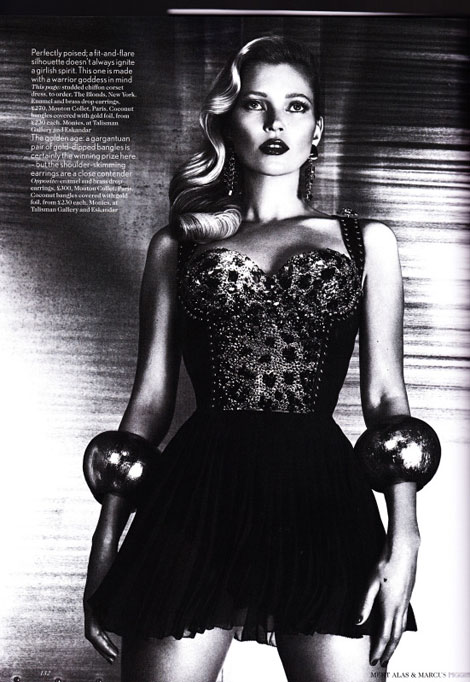 Kate Moss Vogue UK June 2012 photographed by Mert and Marcus