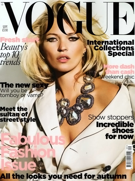 Kate Moss Vogue UK September 2009 cover