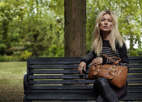 Kate Moss ad campaign Longchamp fall 2011