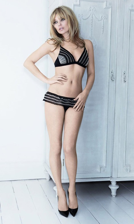 Kate Moss In Lingerie For Valisere Fall Winter 2011 2012 Ad Campaign