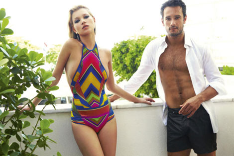 Kate Moss swimsuit Vogue Brazil Rodrigo Santoro