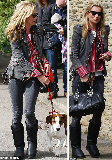 Kate Moss wearing UGG boots