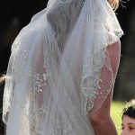 Kate Moss wedding dress veil
