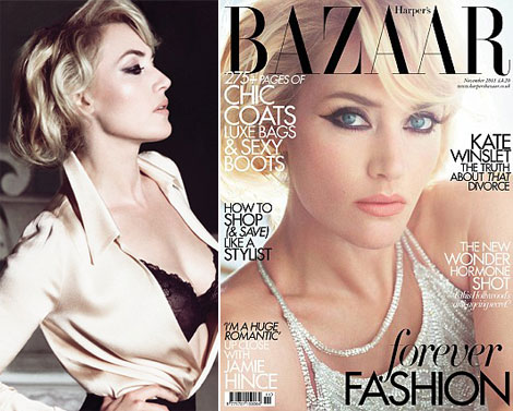 Kate Winslet's Harper's Bazaar Confirms The Bob Hair Style Trend