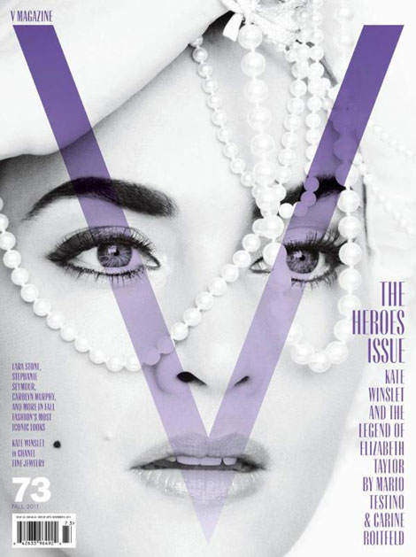 Kate Winslet V Magazine Fall 2011 cover styled by Carine Roitfeld