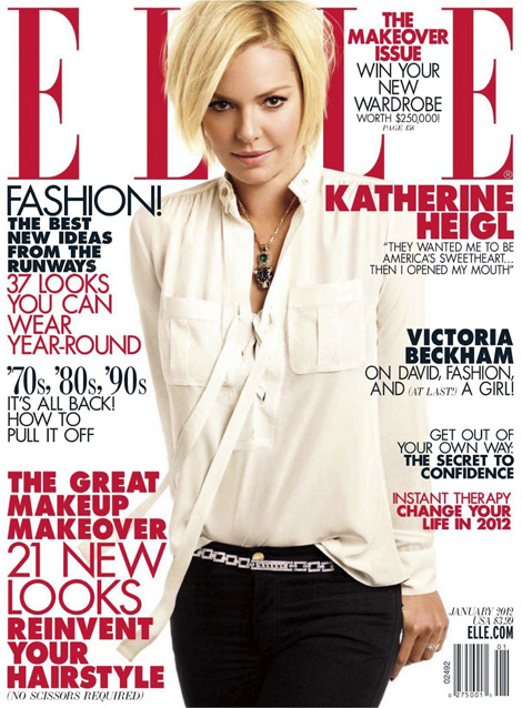 Katherine Heigl Elle January 2012 cover