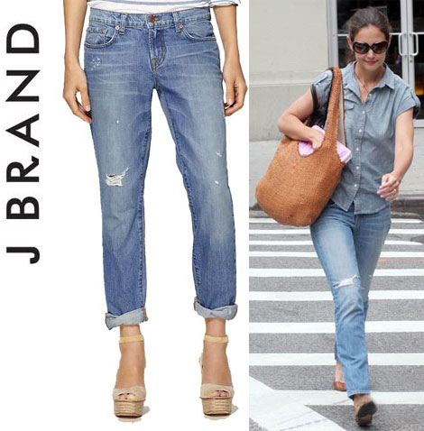 Katie Holmes Wears Slouchy Jeans As Skinny Jeans?