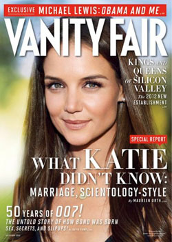 Vanity Fair Telling Katie Holmes What She Didn't Know, October 2012 Issue