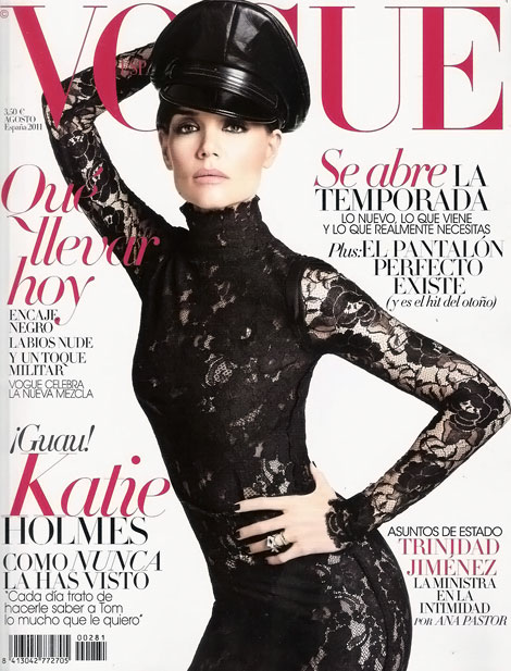 Katie Holmes Vogue Spain August 2011 Tom Munro cover