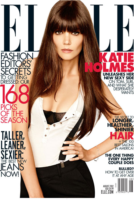Katie Holmes Celebrates Her Divorce With Elle US August 2012