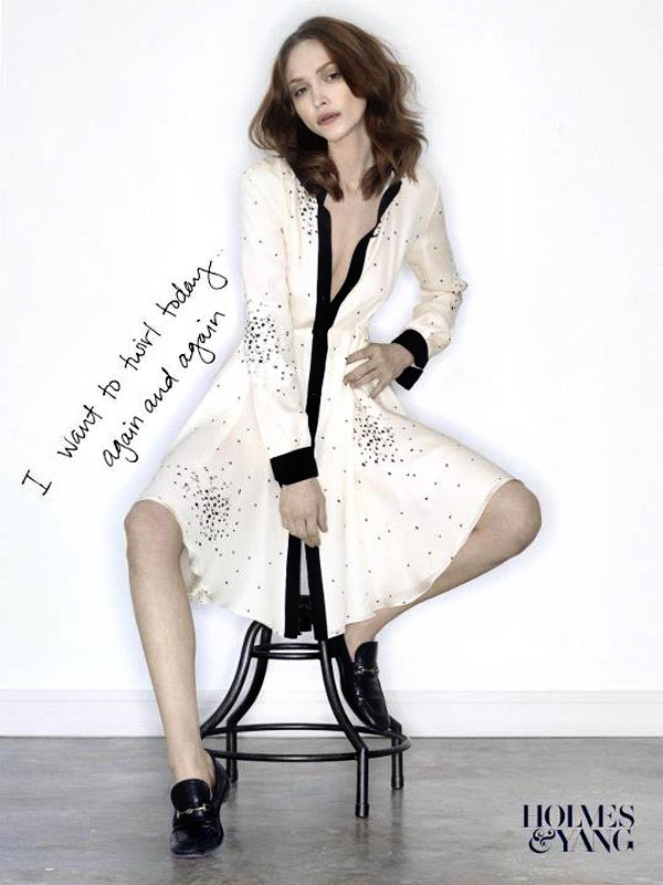 Katie Holmes does fashion Holmes and Yang Fall 2012