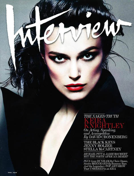 Keira Knightley Interview April 2012 cover