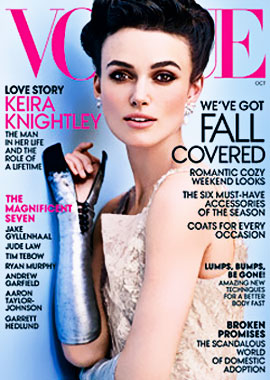 Keira Knightley Vogue US October 2012 cover