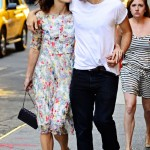 Keira Knightley around town with her fiance