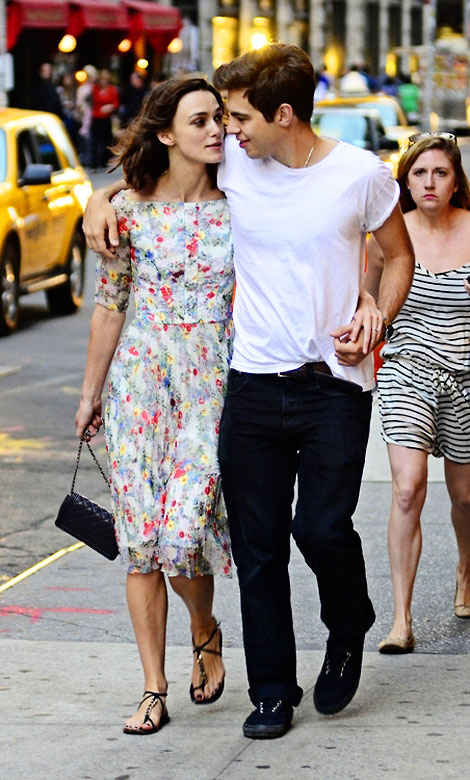 Keira Knightley Smiling Bright With Fiance James Righton