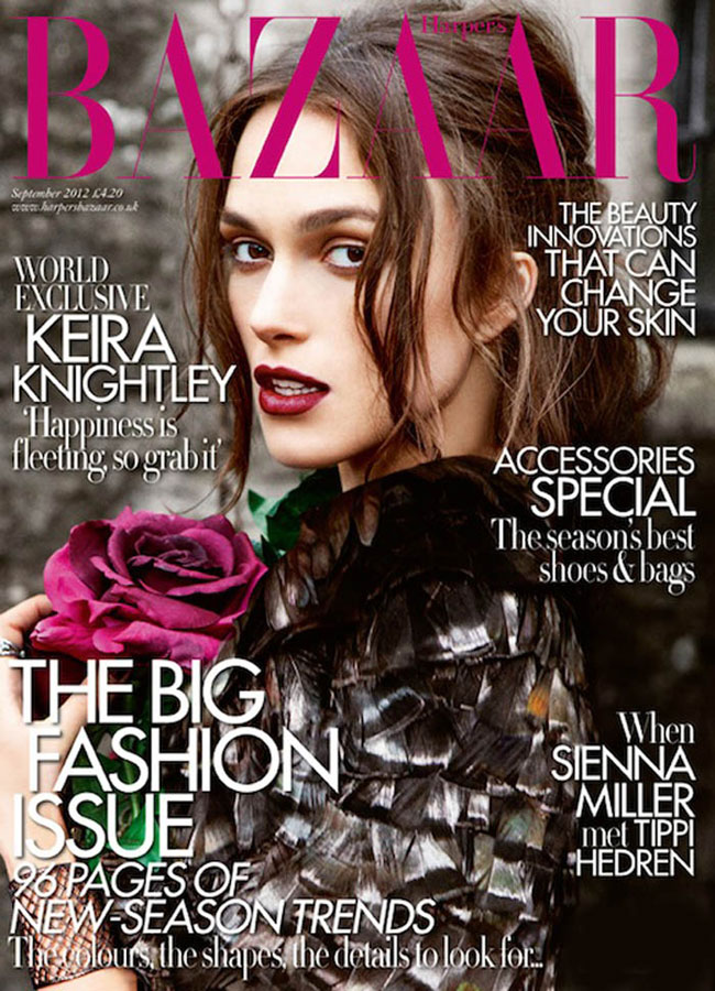Keira Knightley's Harper's Bazaar UK September 2012 By Ellen Von Unwerth