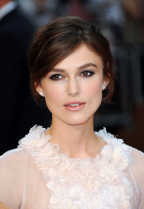 Keira Knightley makeup and jewelry for Anna Karenina premiere
