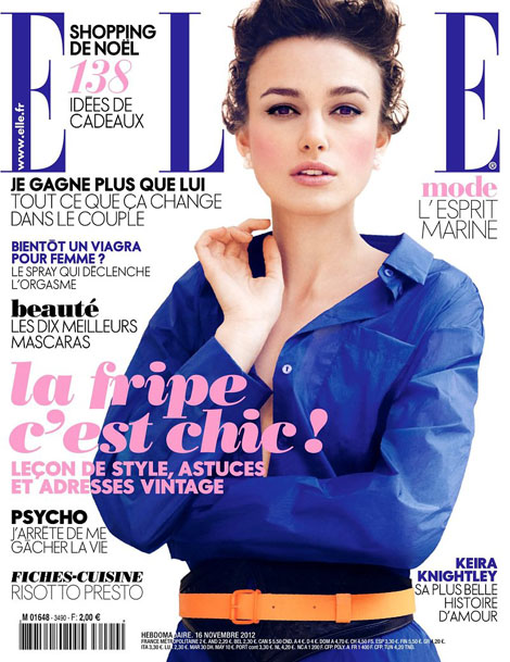 Keira Knightley Is Blue On Elle France Cover