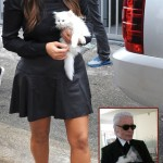 Kim Kardashian s white Kitty copying Karl Lagerfeld