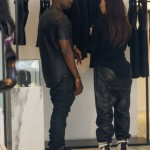 Kim Kardashian wearing Kanye West s leather pants
