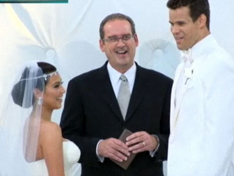 Kim Kardashian wedding to Kris Humphries Vera Wang dress