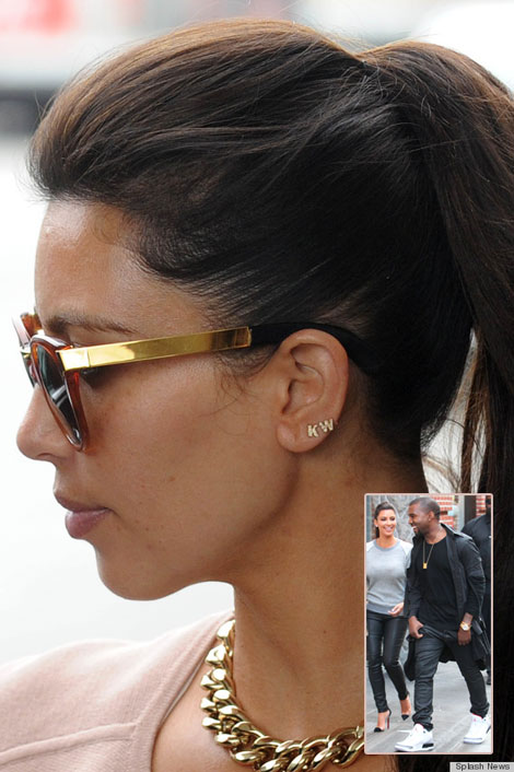 Kim Kardashian's Kanye West Earrings. Too Much