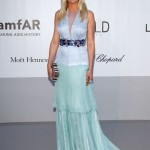 Kirsten Dunst light blue Louis Vuitton dress amfAR 2012 Cannes