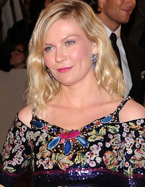 Kirsten Dunst Floral Sequined Chanel Couture Dress Met Gala 2011