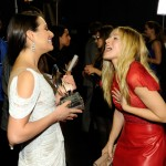 Kristen Bell 2012 People s Choice Awards backstage with Lea