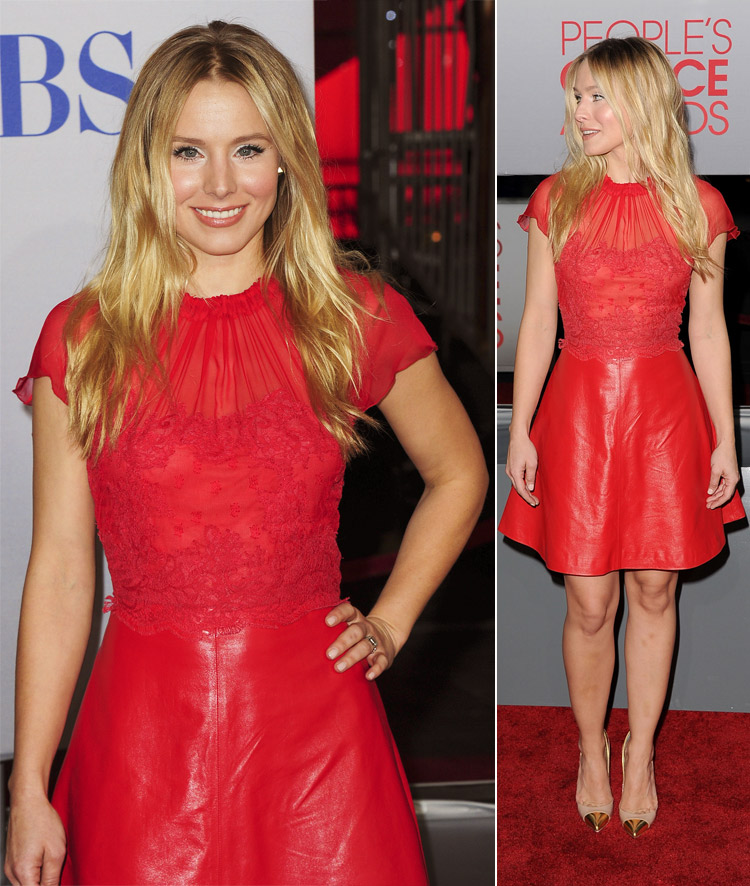 Kristen Bell 2012 People s Choice Awards red dress